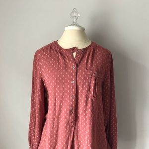 Free People Tunic Blouse Print Top
